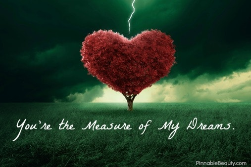 You're the Measure of My Dreams