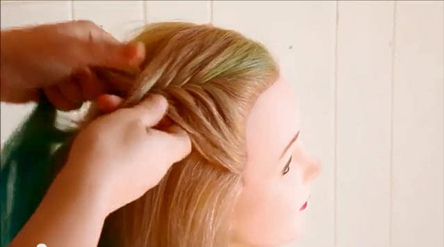 french fishtail braid updo instructions1
