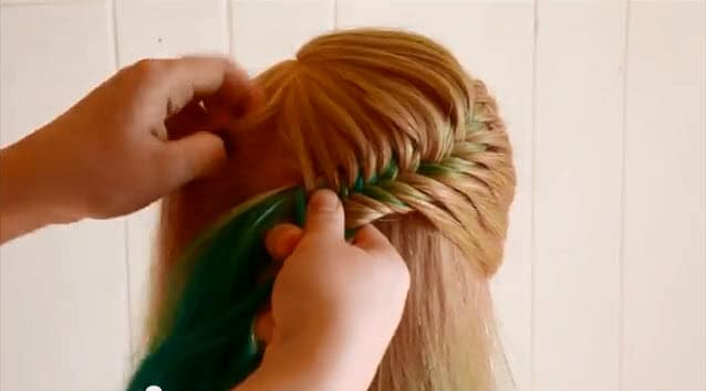 french fishtail braid updo instructions2