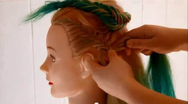 french fishtail braid updo instructions5