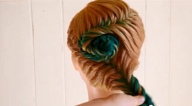french fishtail braid updo instructions8