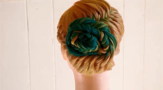 french fishtail braid updo instructions9