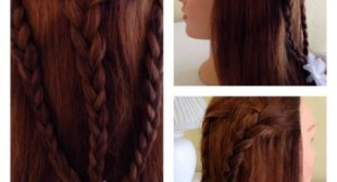 Simple 3 Braid Hairstyle