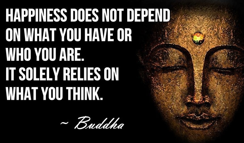 Happiness Quote - Detached Mindfulness